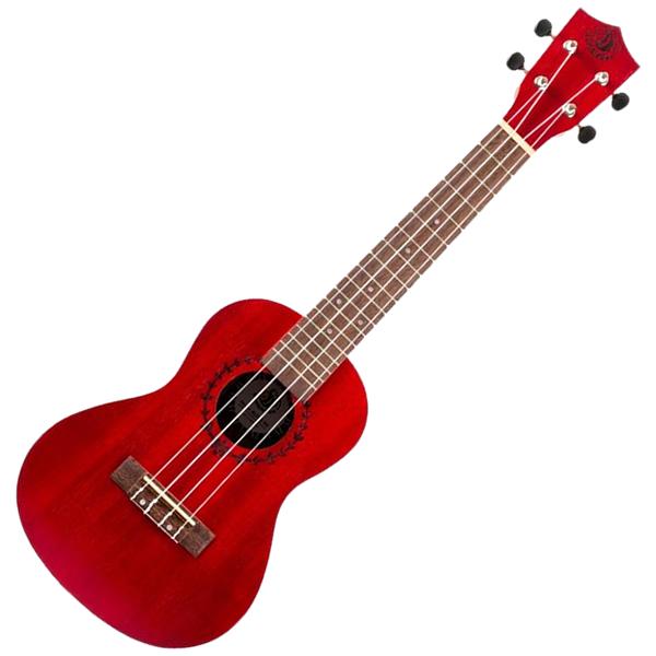 BumbleBee BUC23 Red Concert Ukulele