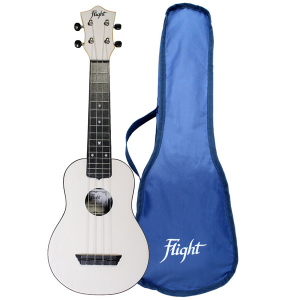 Flight TUS35 White Travel Soprano Ukulele