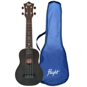 Flight TUS35 Black Travel Soprano Ukulele