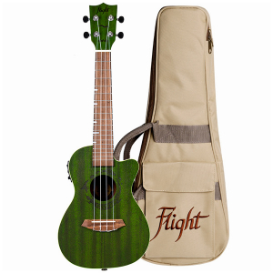 Flight DUC380 CEQ Jade Electro-Acoustic Concert Ukulele